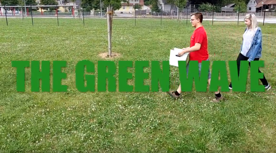 Wellpappe The green wave